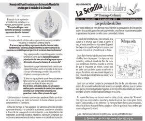 Semilla 885 9 de septiembre 2018