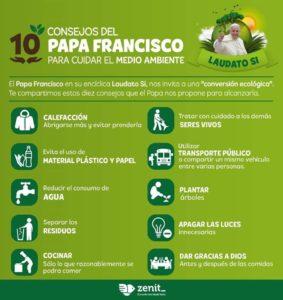 El Papa Francisco nos ofrece estos 10 consejos para cuidar el medio ambiente